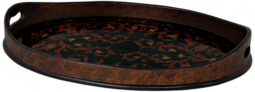 Lucca Reverse Painted Glass Tray (p2865)