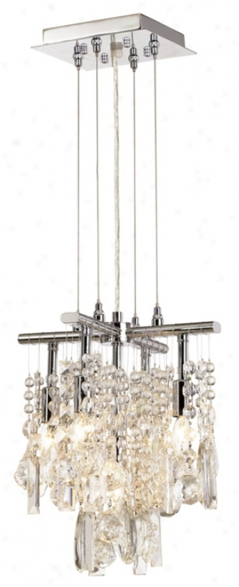 "Luminous 11"" Wide Crystal Chandelier (26970)"