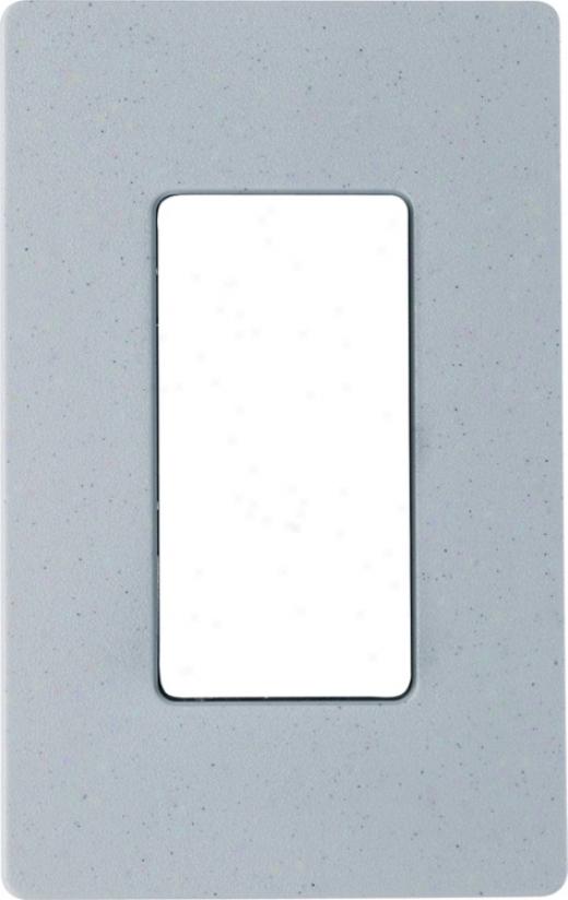 Lutron Bluestone Satin Single Gang Screwless Faceplate. (68156)