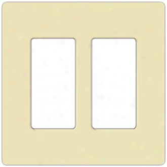 Lutron Claro 2 Gang Screwless Faceplate (53595)
