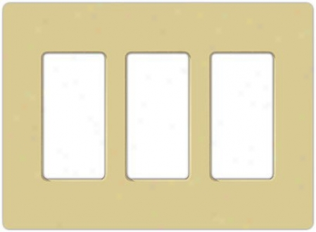 Lutron Claro 3 Gang Screwless Faceplate (32334)