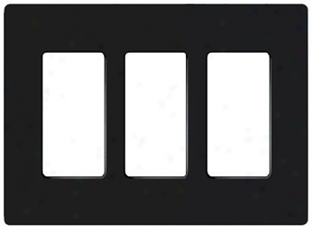 Lutron Claro 3 Gang Screwless Faceplate (75409)