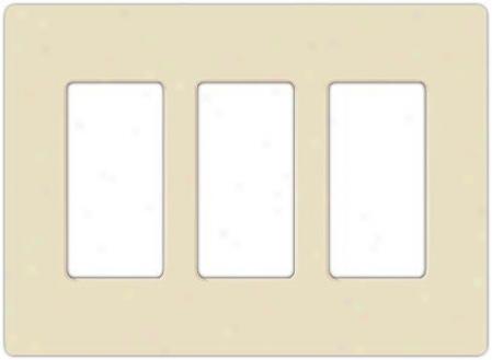 Lutron Claro 3 Gang Screwlsss Faceplate (86247)