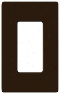 Lutron Claro Brown 1 Gang Screwless Faceplate Switchplate (86244)