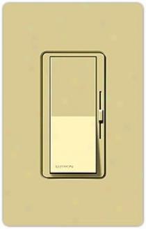 Lutron Diva 600 Watt Single Pole Magentic Ivory Dimmer (04570)