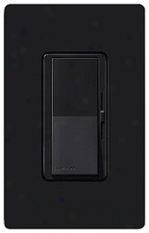 Lutron Diva 600w Incandescent Singie Pole Black Dimmer (22256)