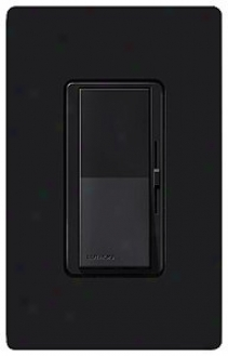 Lutron Diva Black Single Pole Low Voltage Magnetic Dimmer (73174)