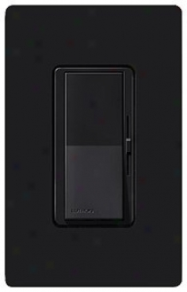 Lutron Diva Black Single Pole Lpw Voltage Magnetic Dimmer (79255)