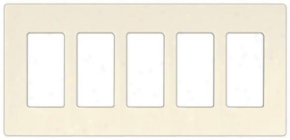 Lutron Diva Sc 5 Gang Wallplate (48659)
