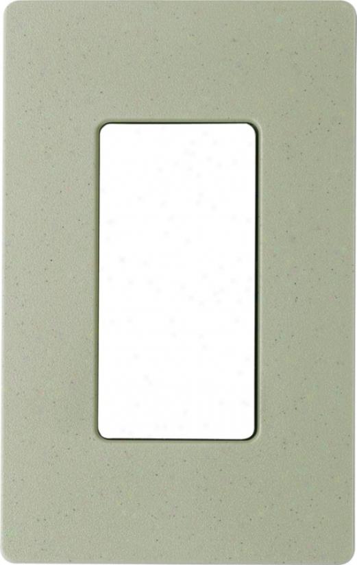Lutron Greenbriar Single Gang Screwless Faceplate (66118)