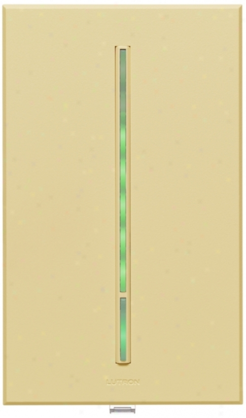 Lutron Vierti 600 Watt Green Led Multilofation Ivory Dimmer (56099)
