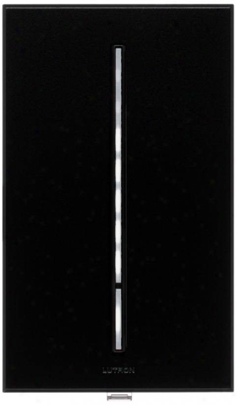Lutron Vierti 600 Watt White Led Multilocation Black Dimmer (10976)