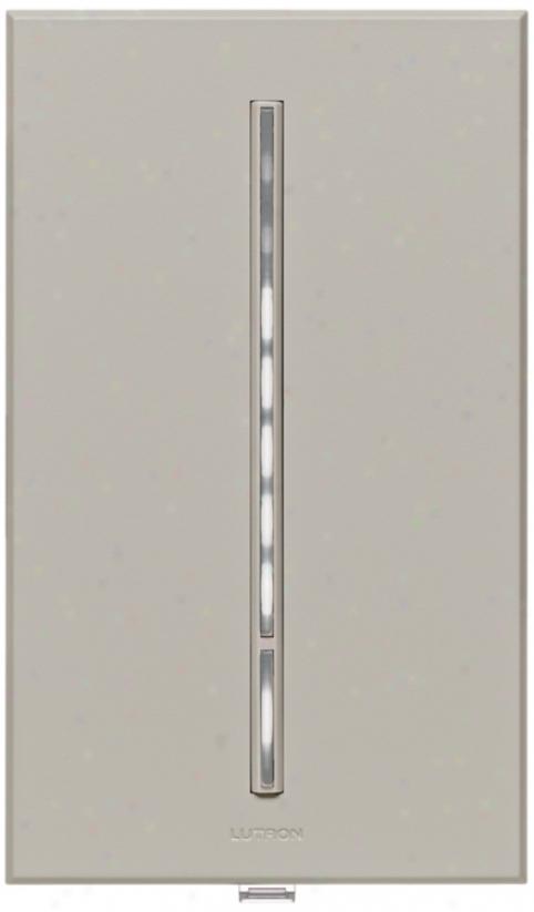 Lutron Vierti 600 Watt White Led Multilocation Gray Dimmer (10717)