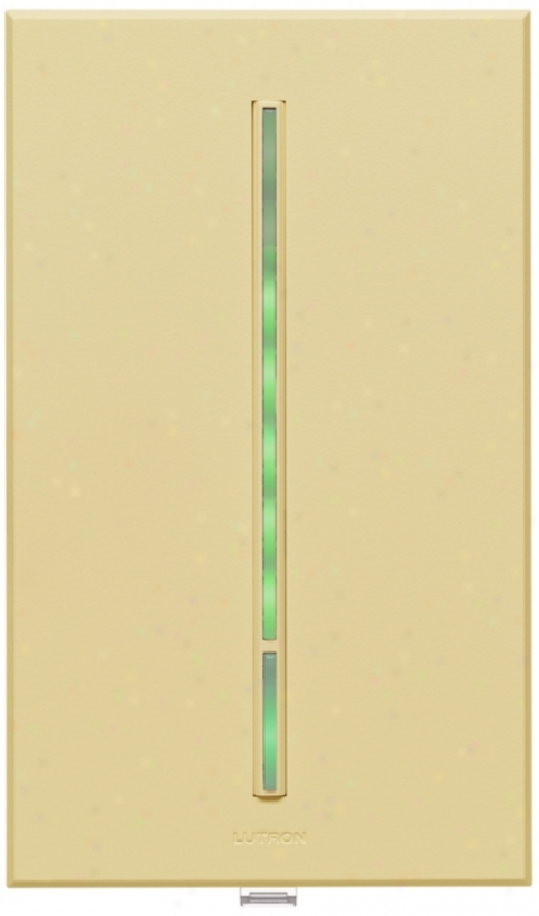 Lutron Vierti Verdant Led 600 Watt Single Pole Ivory Dimmer (54743)