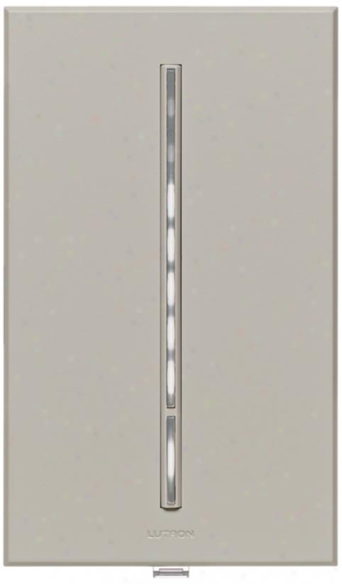Lutron Vierti White Led 600 Watt Single Pole Gray Dimmer (55488)