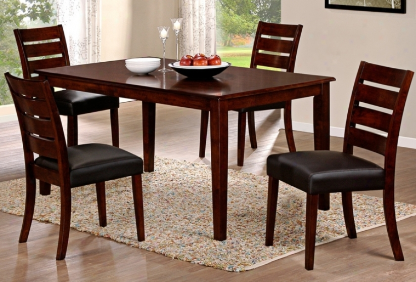 Lyndon Lane 5-piece Ladder Back Dining Chair And Table Set (w1203)