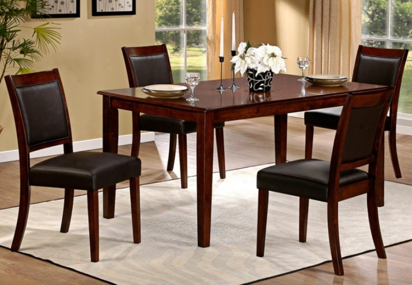 Lyndon Lane 5-piece Upholstered Dining Chair And Table Set (w1205)