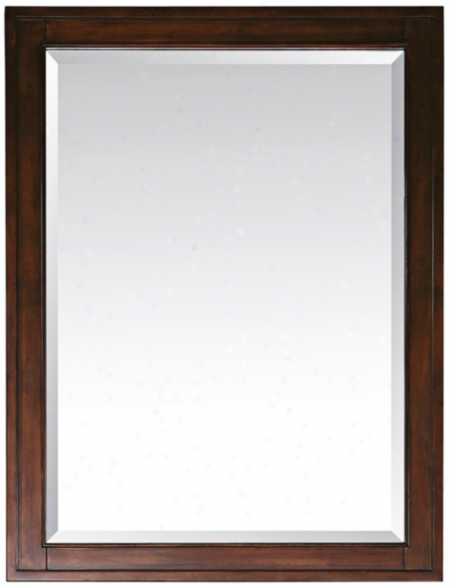 "Madison Tobacco 28"" Wide Rectangular Wall Mirror (r8977)"