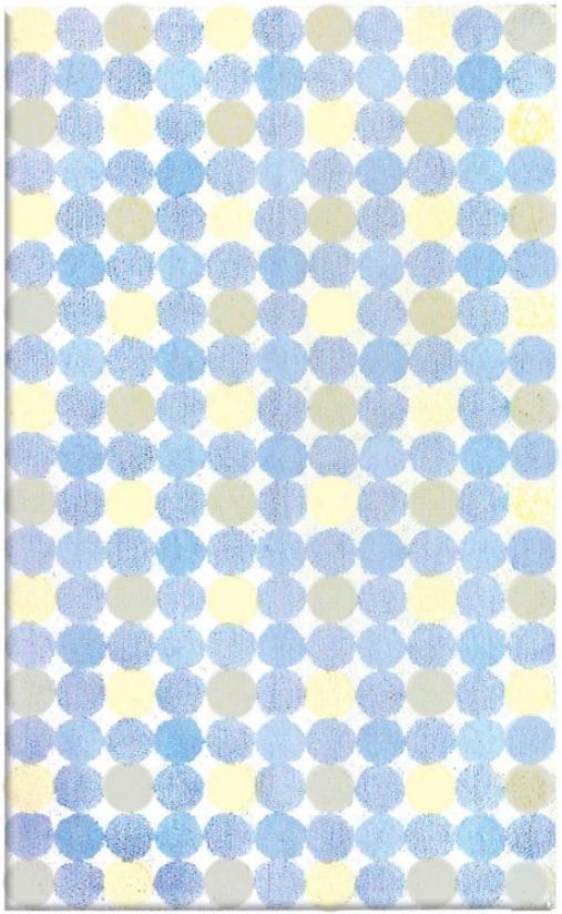 Magical Spots Blue Area Rug (f4630)