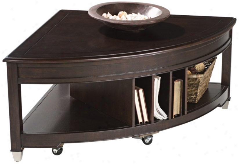 Magnussen Darien Pie Shaped Lift Top Cocktail Table (k0080)