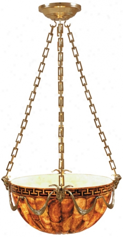 Maitland-smith Brown Penshell Death by the halter Pendant Light (k0007)