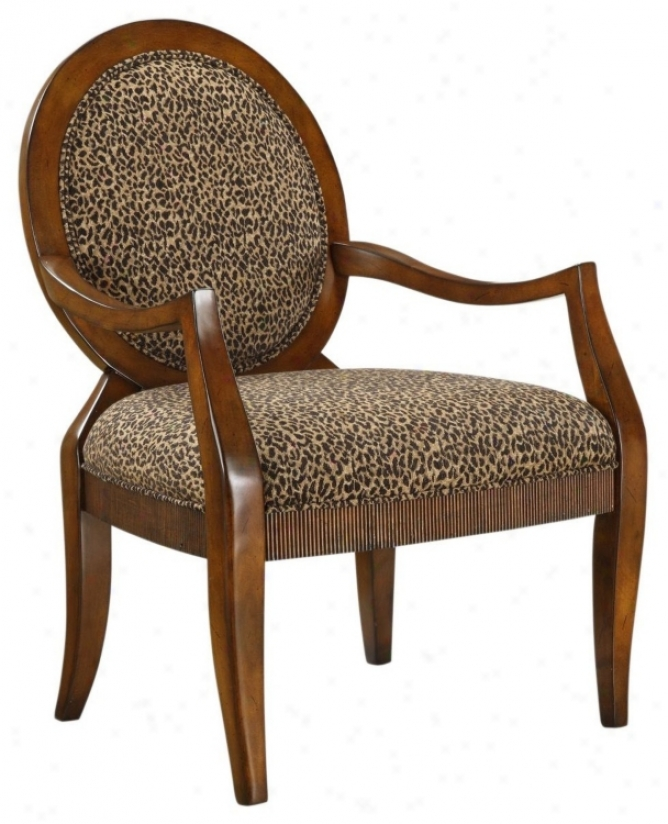 Malibu Cheetah Beige Accent Chair (p4809)