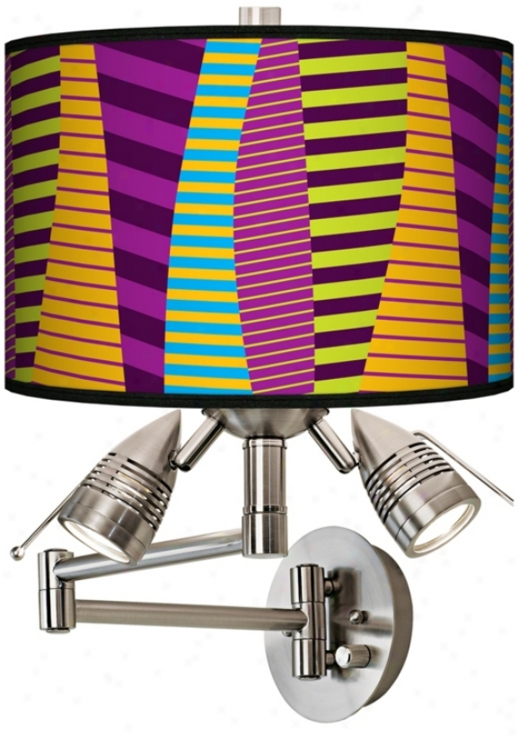 Mambo Giclee Swing Arm Wall Light (80379-n9672)