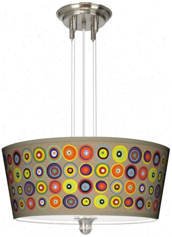 """Marbles In The Park Giclee 18"""" Wide Pendant Chandelier (m2296-v3130)"""