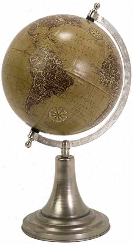 Marco Globe With Nickel Finish Base (t9963)