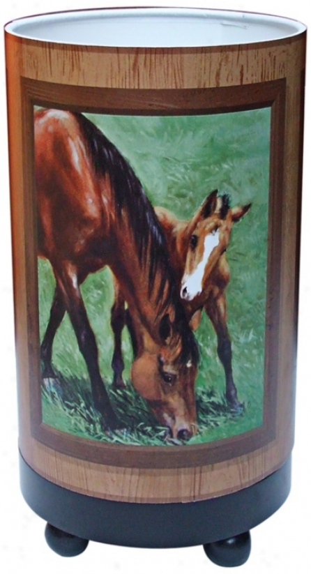 "Mare And Foal 11"" High Accent Lamp (r6843)"
