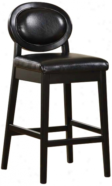 "Martini Series Jet Black 30"" High Stationary Bar Stool (p6033)"