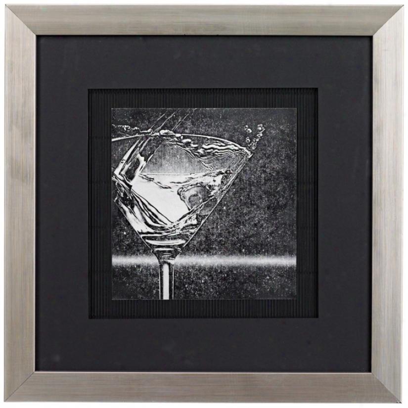 "Martini Splash I 16 1/2"" Square Wall Art (12120)"