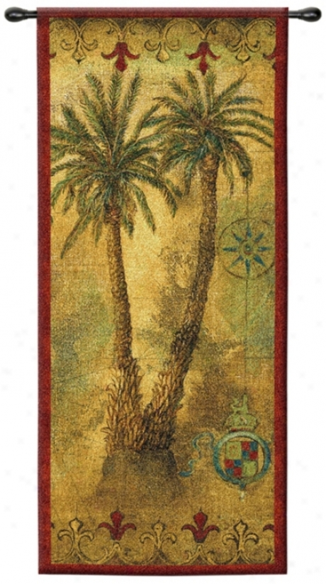 "Masoala Panel I 53"" High Wall Hanging Tapestry (j9049)"