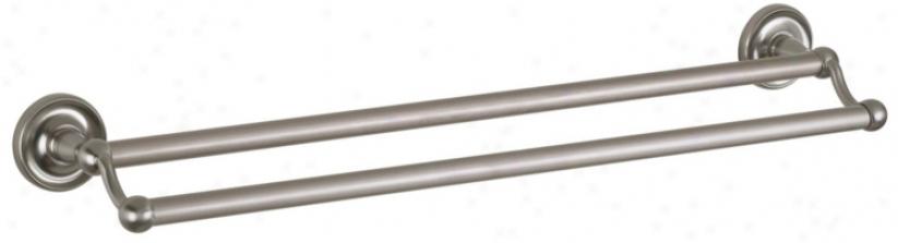 "Maxwell Satin Nickel 24""; Remote Double Towel Bar (16891)"