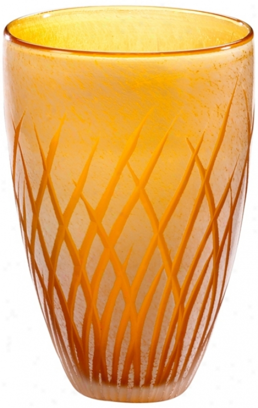 Medium Amber And White Aquarius Vase (r0810)