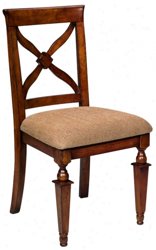 Medium Cherry Finish Dining Chair (j8589)