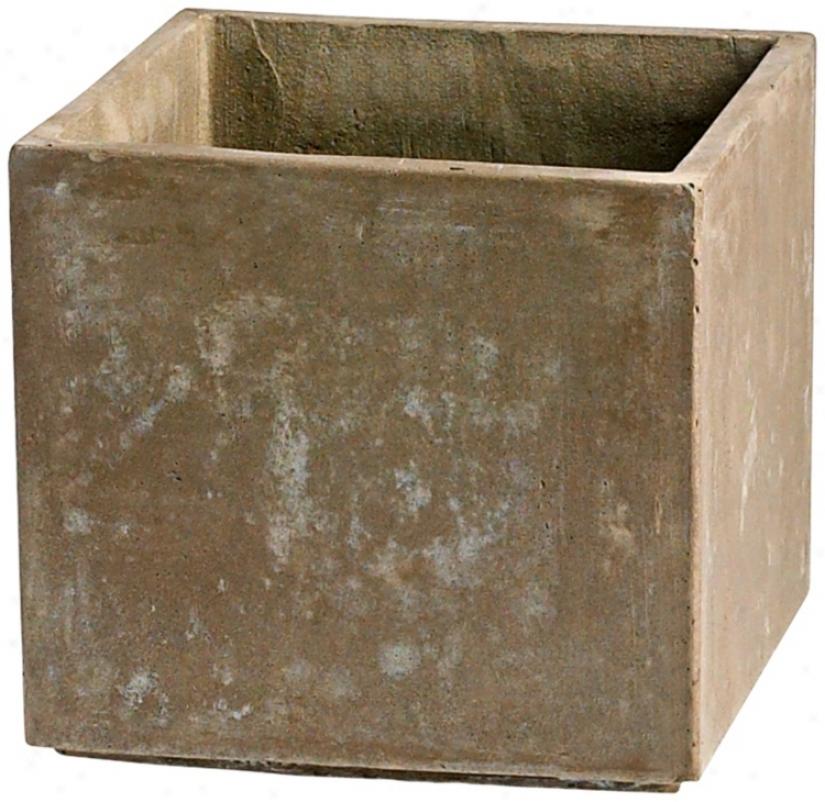 "Intervening substance Euro Box 10 1/4"" High Square Planter (v0942))"