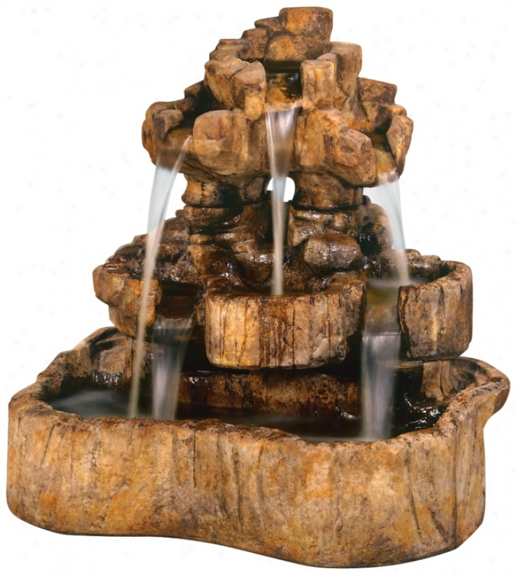 Medium Rock Falls Fountain (06781)