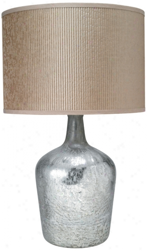 Medium Textured Mercury Glass Plum Jar Table Lamp (p2488)