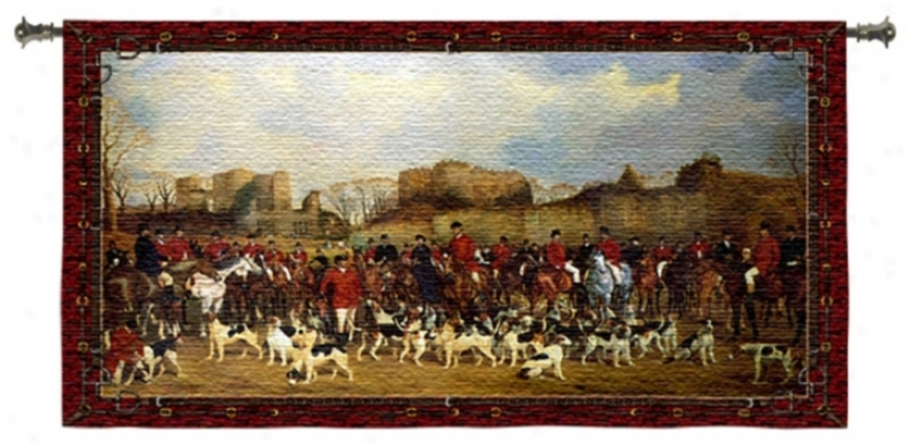 "Meet/north Warwick 53"" iWde Wall Death by the halter Tapestry (j9047)"