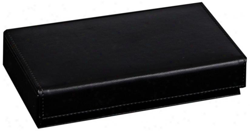 Mele & Co. Adair Black Faux Leather Men's Travel Valet (t1188)