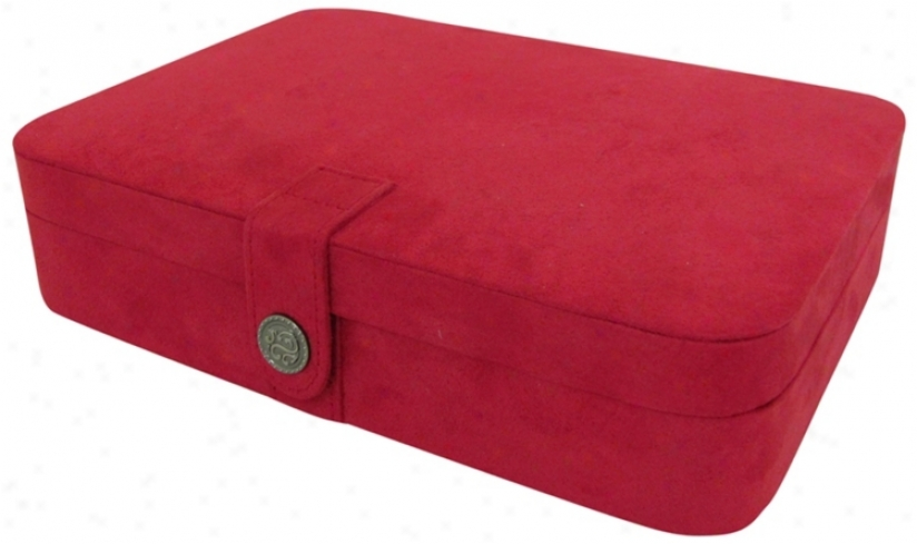 Mele & Co. Maria Plush Red Jewelry Box (t1628)