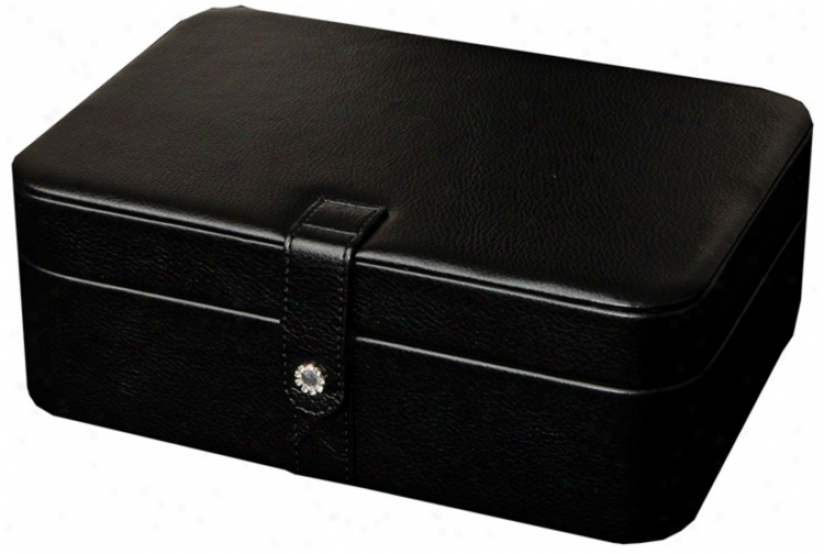 Mele & Co. Remy Black Faux Leather 48-section Jeweldy Box (t1180)