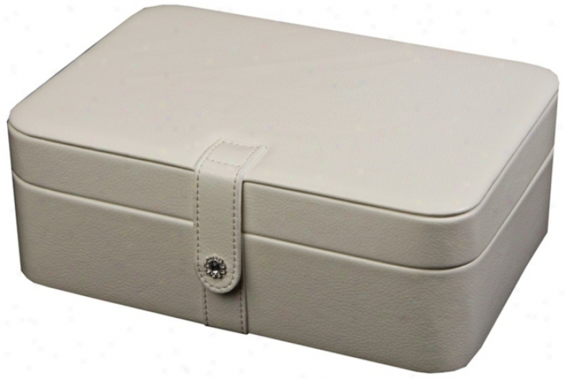 Mele & Co. Rmy Ivory Faux Leather 48-section Jewelry Box (t1181)