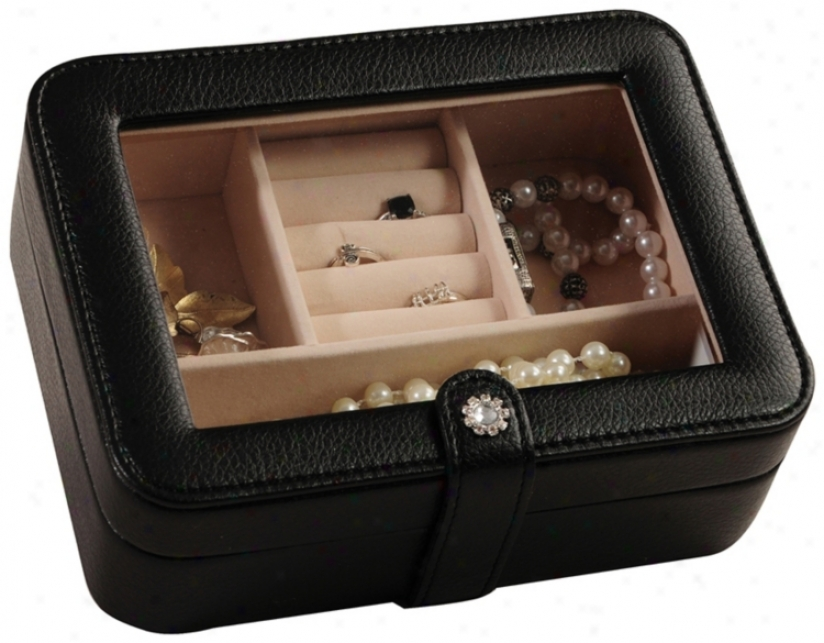 Msle & Co.. Rio Black Faux Leather Jewelry Box (t1634)