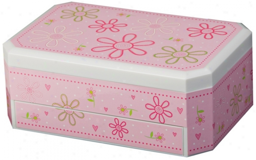 Mele & Co. Rose Girl's Glitter-daisyjewelry Box (y1193)