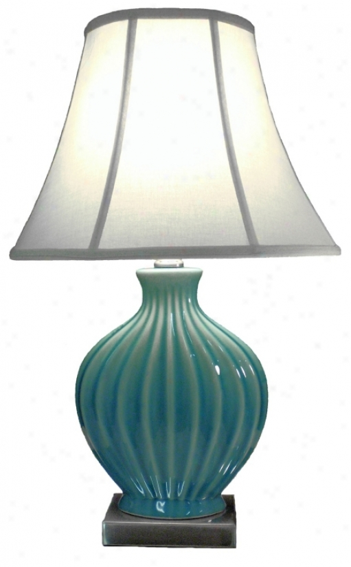 Melissa Ceramic Blue And Teal Table Lamp (p5463)