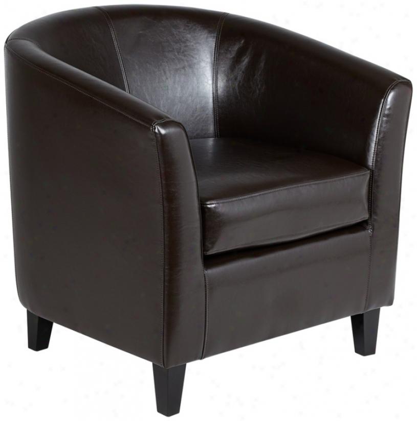 Melrose Espresso Recast Leather Tub Chair (u3033)