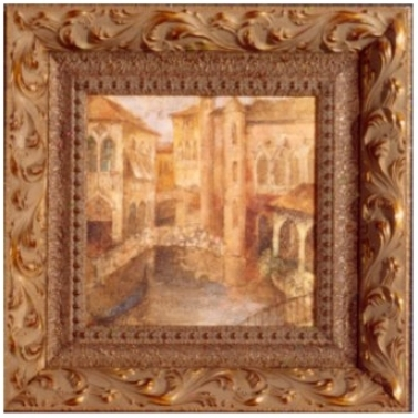 "Memories Of Venice Ii Print 9"" Square Wall Art (j4177)"