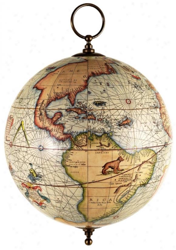 Mercator Globe Hanging Ornament (c. 1541) (v0347)
